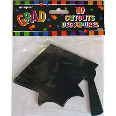 Graduation Cap Cutouts 10pk.: Health & Personal Care