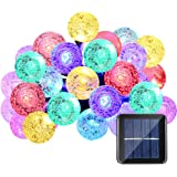 Qedertek Globe Solar String Lights, 19.7ft 30 LED Fairy Decorative Crystal Ball Outdoor Solar Lights for Home, Garden, Patio, Lawn, Party and Holiday Decorations (Multi-color)