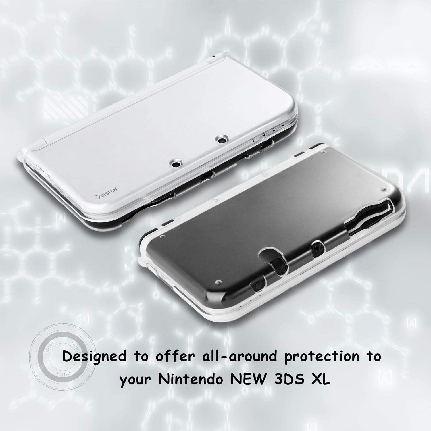 Amazon.com: For New 3DS XL Clear Case by Insten Ultra Clear ...