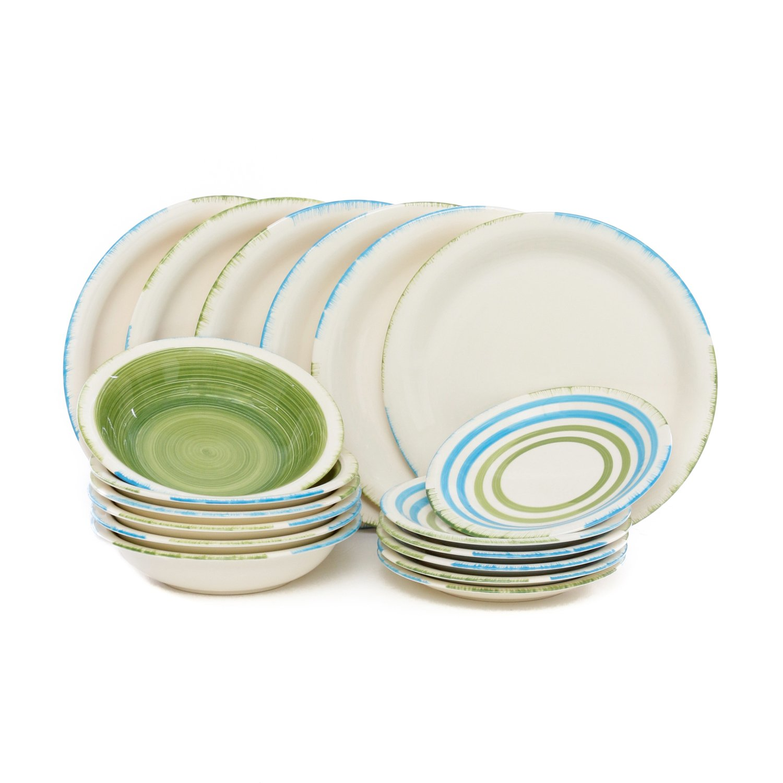 Servizio piatti fresh 18 pezzi in stoneware Amazon Casa e cucina image source