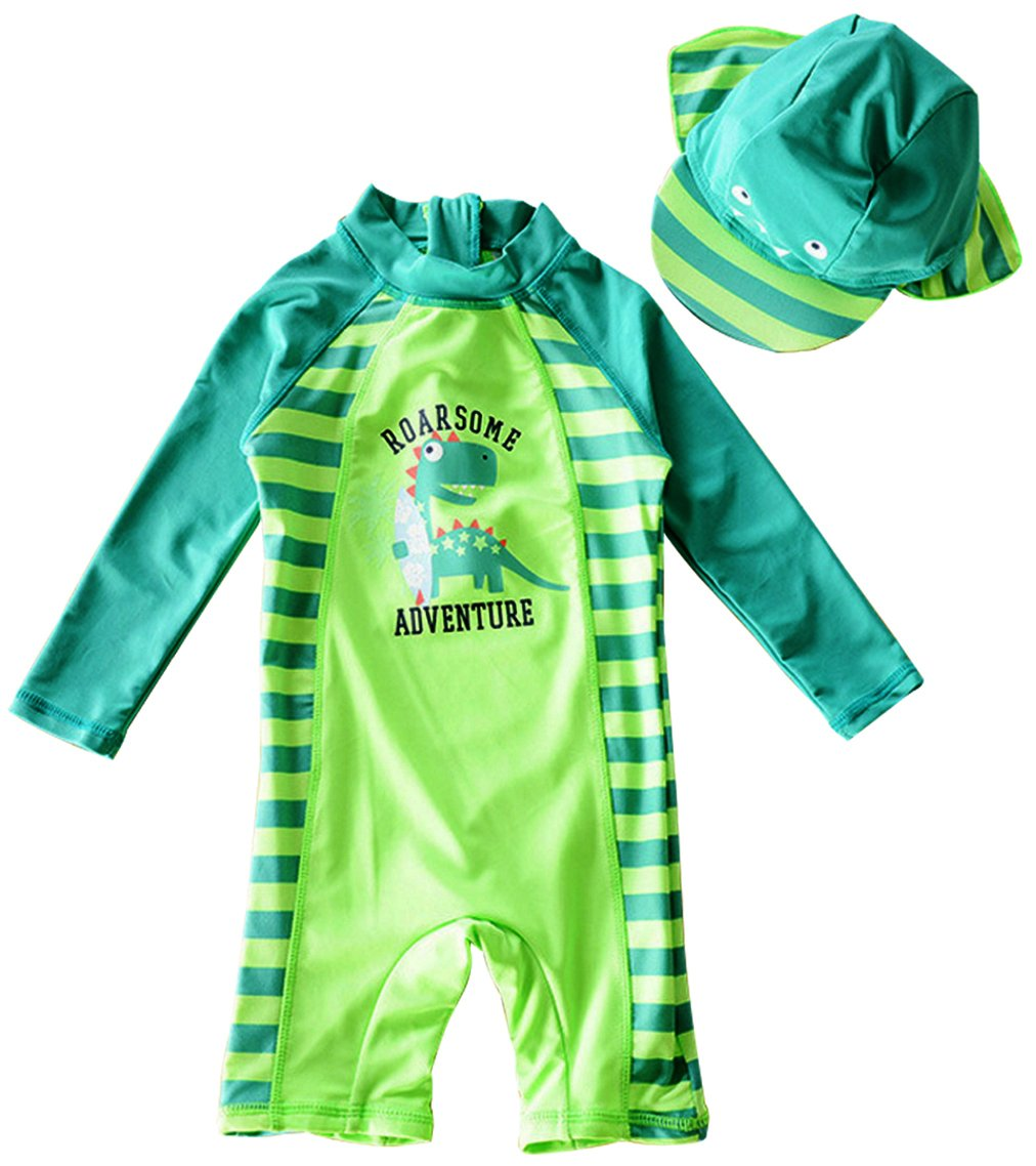 EGELEXY Baby Boy Summer Long Sleeve One Piece Rashguard Swimsuit Sun Protection Swimwear QB191