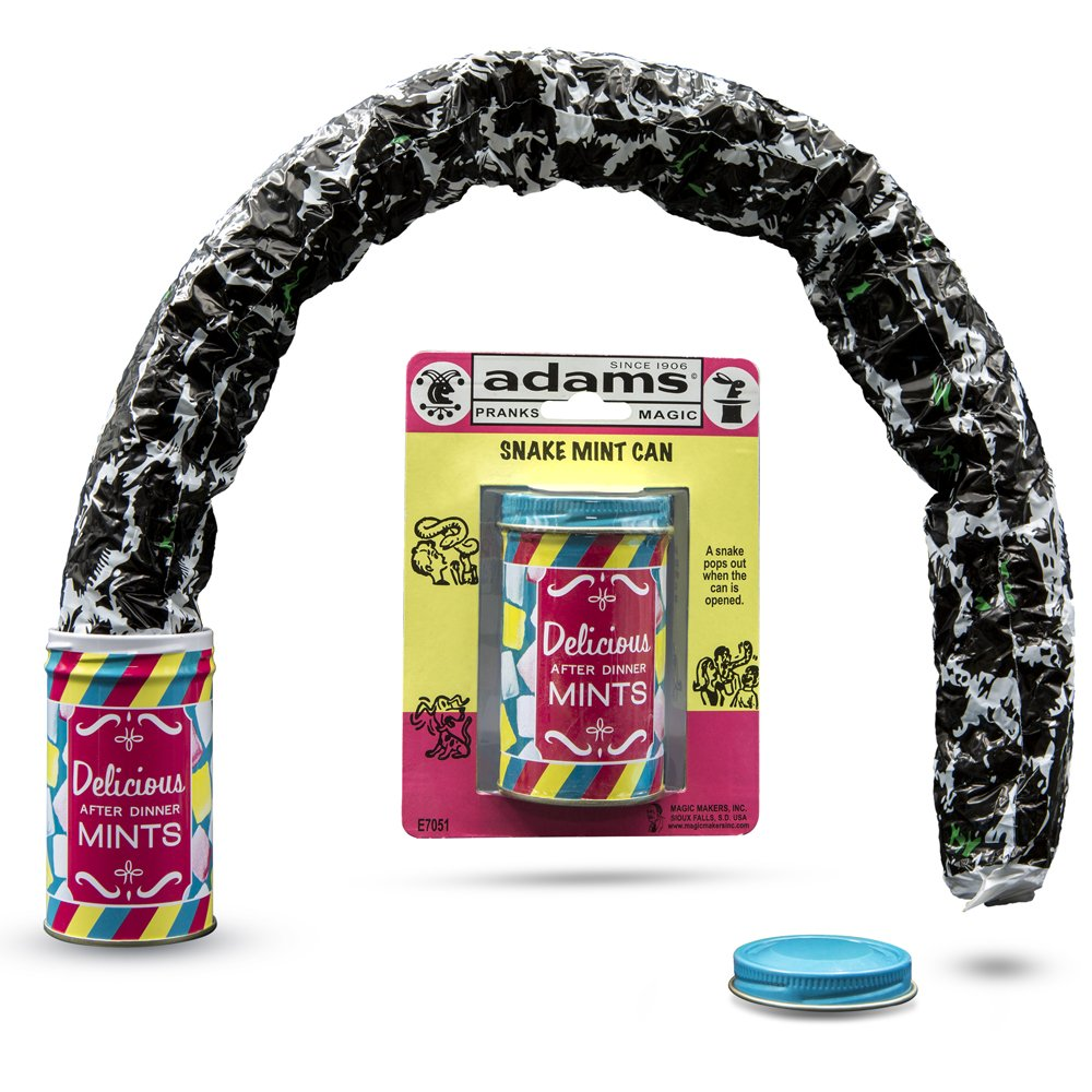 Adams Pranks and Magic Snake Mint Can - Classic Novelty Prank Toy