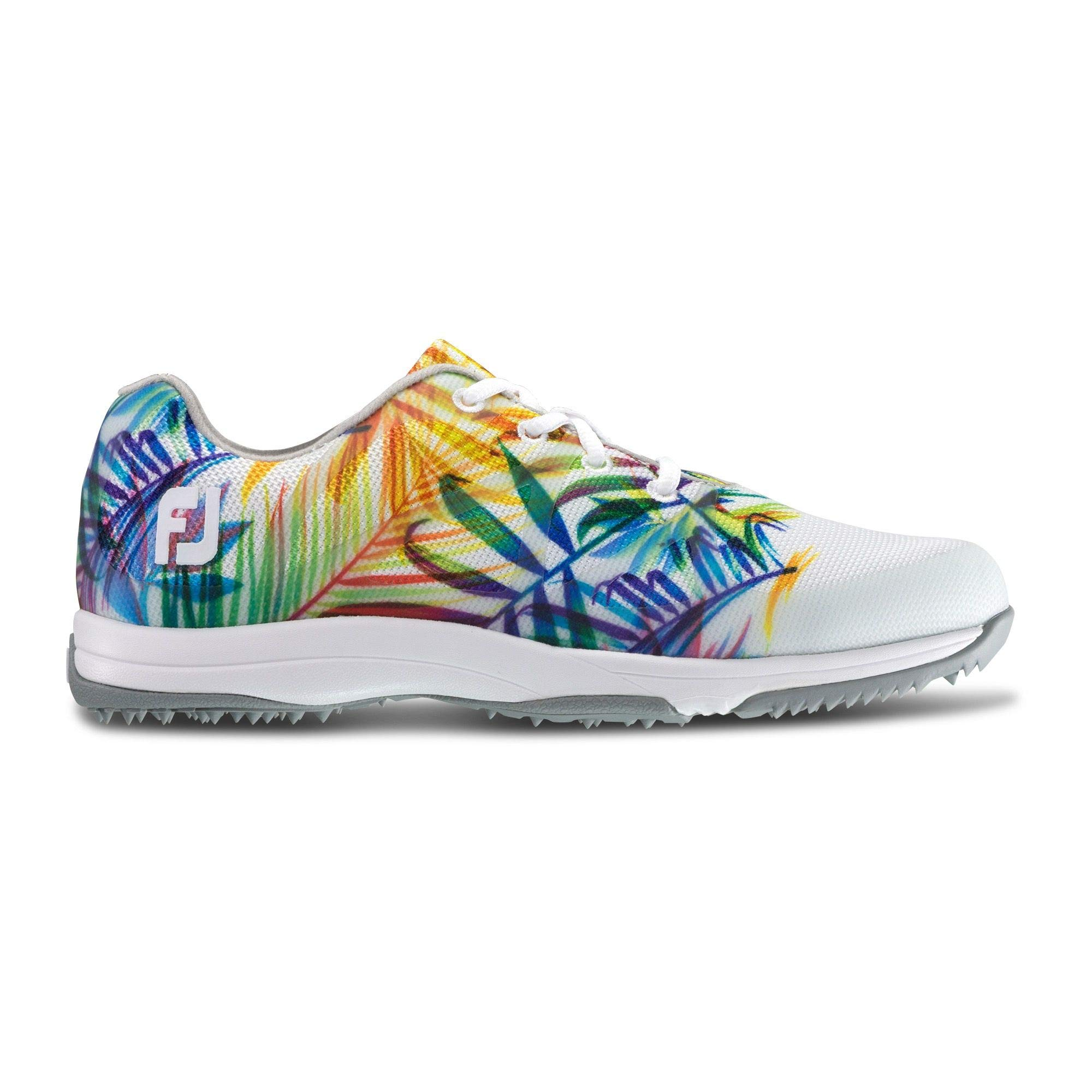 FootJoy Women's Leisure-Previous Season Style Golf Shoes White 5 M Tropical Print, US