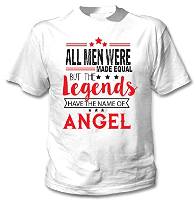 teesquare1st Angel Camiseta Blanca para Hombre de Algodon: Amazon ...