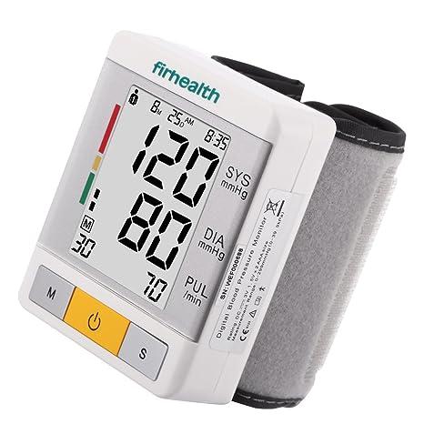 firhealth – Tensiómetro de muñeca FDA portátil con pantalla grande genehmigt, dos modos de usuario
