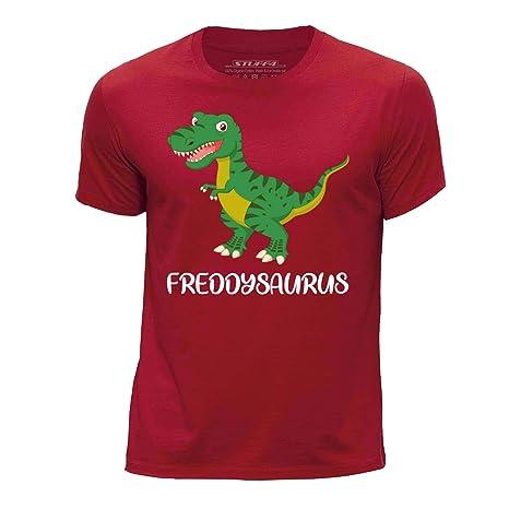 STUFF4 Boy/'s Green Round Neck T-Shirt//Dinosaur//Tyrannosaurus T Rex//SZ