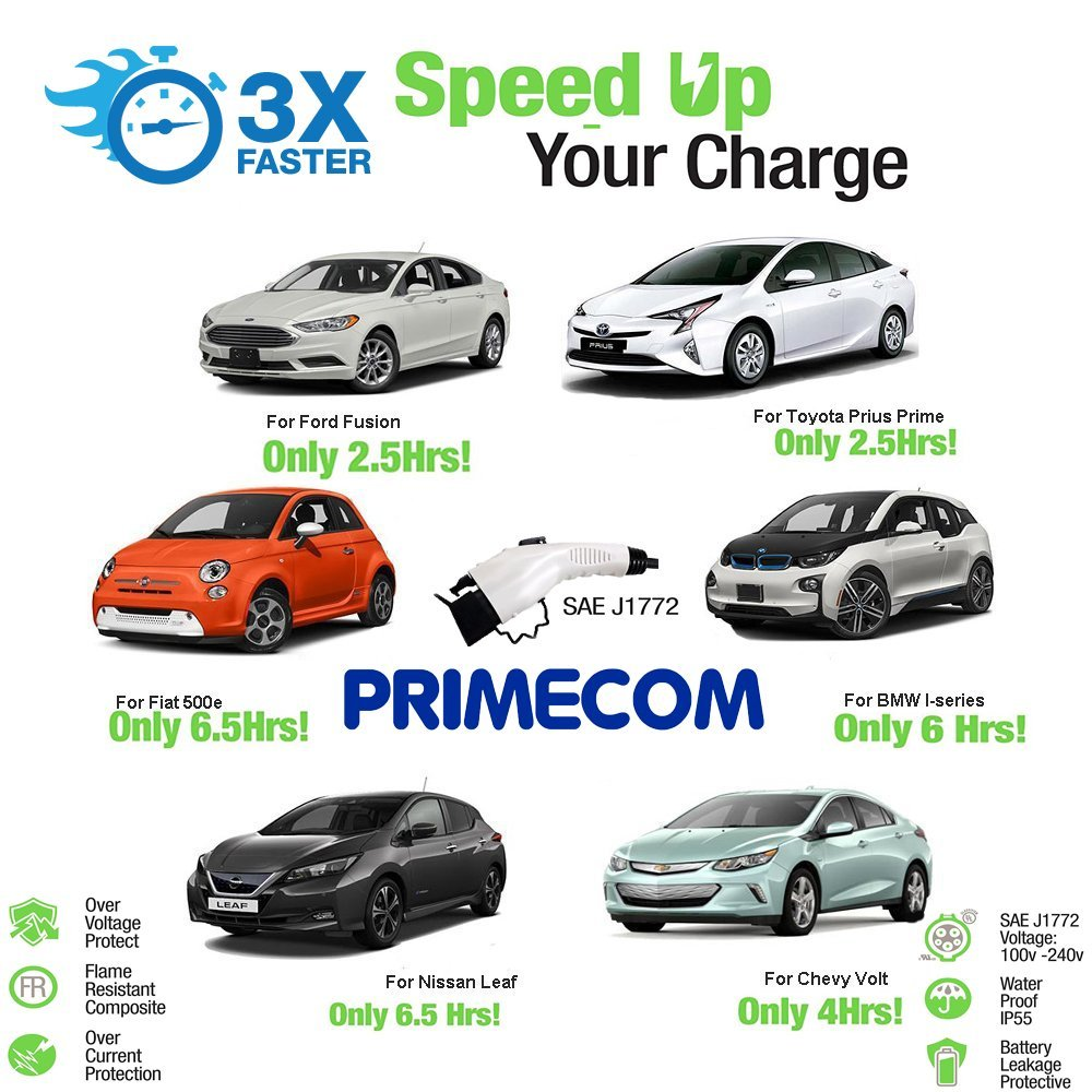 PRIMECOM Level-2 Electric Vehicle Charger 220 Volt 30', 35', 40', and 50' Feet Lengths (6-30P, 30 Feet) by PRIMECOM (Image #7)