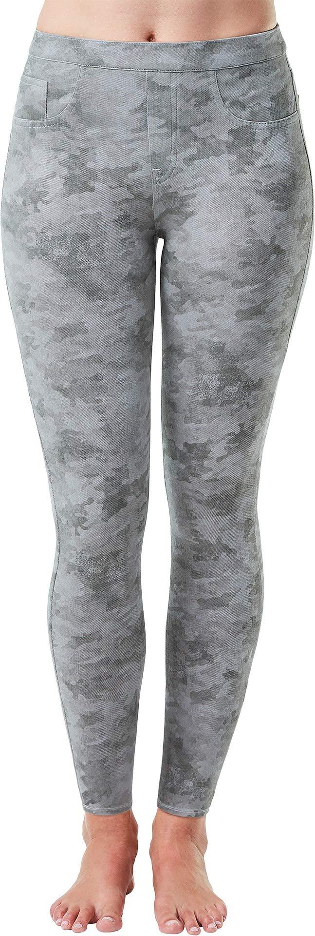 SPANX Women's Jean-ish Ankle Leggings Stone Wash Camo Large 27
