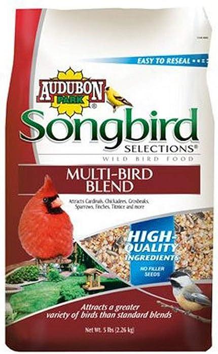 Songbird Selections Pound 11985 Multi Seed Blend Wild Bird Food Bag, 5, 5 lb