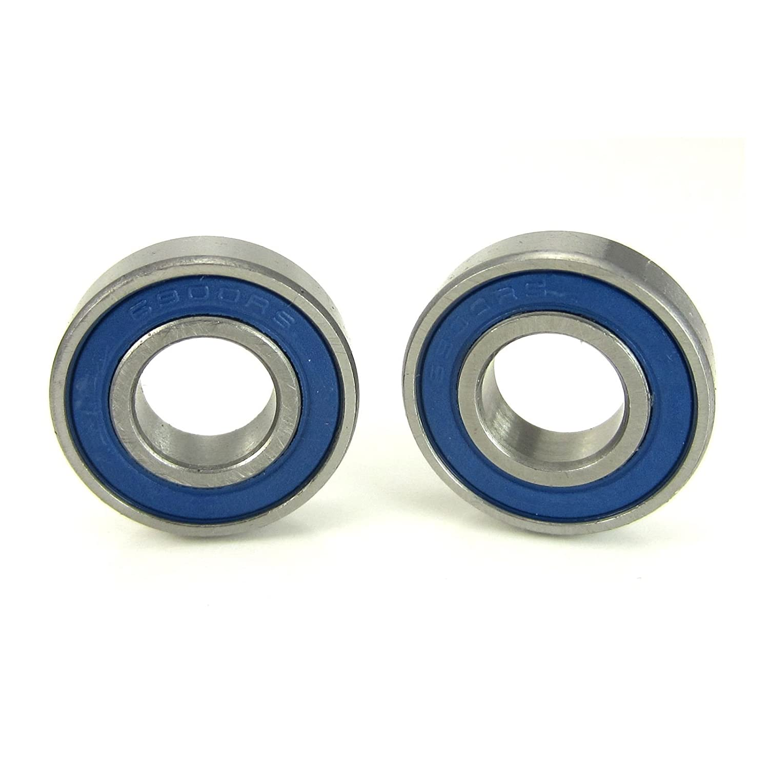 10x22x6mm Precision Ball Bearings ABEC 3 Blue Rubber Seals (2) TRB RC