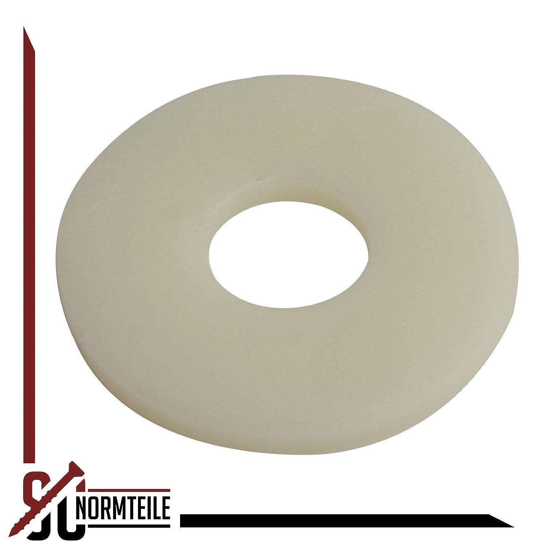 - M6 - DIN 9021 Form A PA 20 St/ück Polyamid SC-Normteile 6,4 - Kunststoff SC9021 Gro/ße Unterlegscheiben Beilagscheiben -