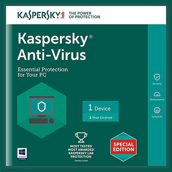 Kaspersky Anti-Virus Latest Version - 1 PC, 1 Year (CD)-Best-Popular-Product