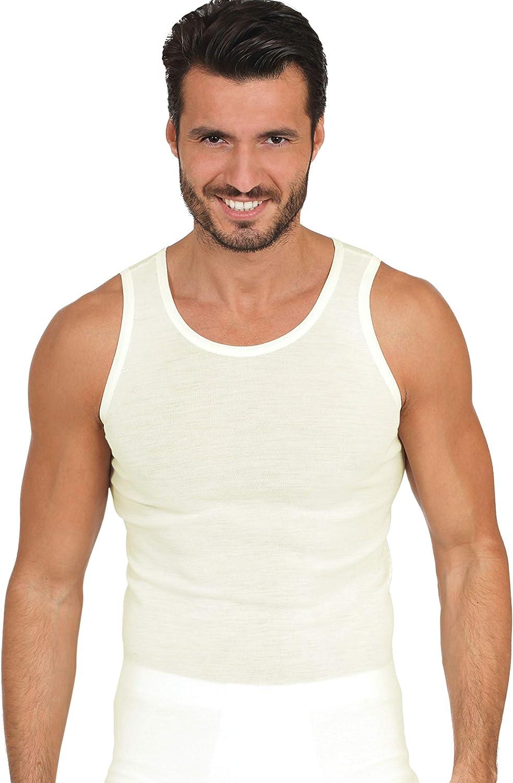 EGI Luxury 100% Merino Wool Men's Sleeveless Shirt Muscle Tank Top. Proudly Made in Italy.