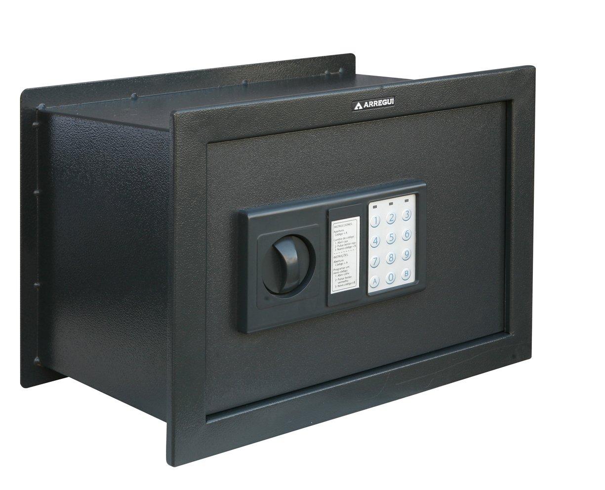 Arregui W25EB Caja Fuerte de empotrar electrónica con pomo. 380x280x250mm, Gris Oscuro, 380 x 280 x 250 mm: Amazon.es: Bricolaje y herramientas