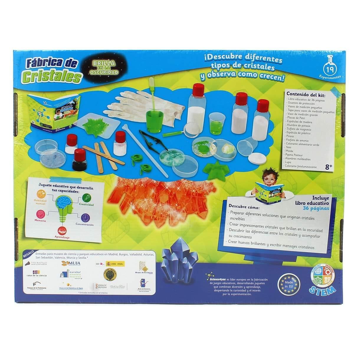 Science4you Fábrica de Cristales brilla en la oscuridad - juguete educativo STEM: Amazon.es: Juguetes y juegos