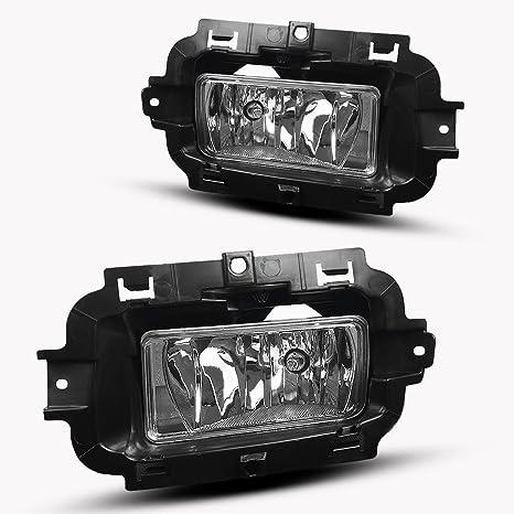 amazon com fog lights for chevy silverado 1500 2014 2015 fit all rh amazon com F250 Fog Light Wiring Harness Installing Fog Lights Wiring