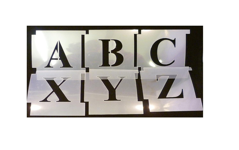 25mm Professional Interlocking Stencil Kit. Times New Roman, Upper Case. Made from 125micron Mylar Polyester. Alphabet-Schablone. Alphabet-Vorlage Ambosia UK