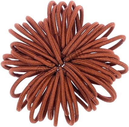 50 Pack Snag Free Thin Elastic Hair Bands Bobbles Band School Ponytail Elastics