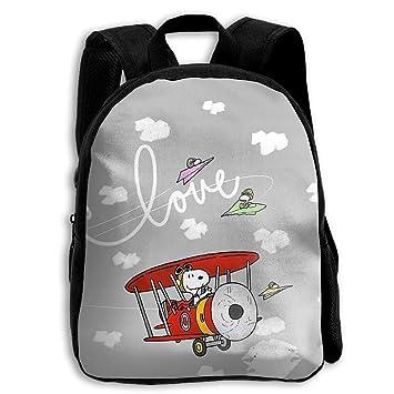 CHLING Mochila para niños Snoopy Volando con avión, Bolsa Escolar para niños, Bolsa para Libros para niños y niñas: Amazon.es: Hogar