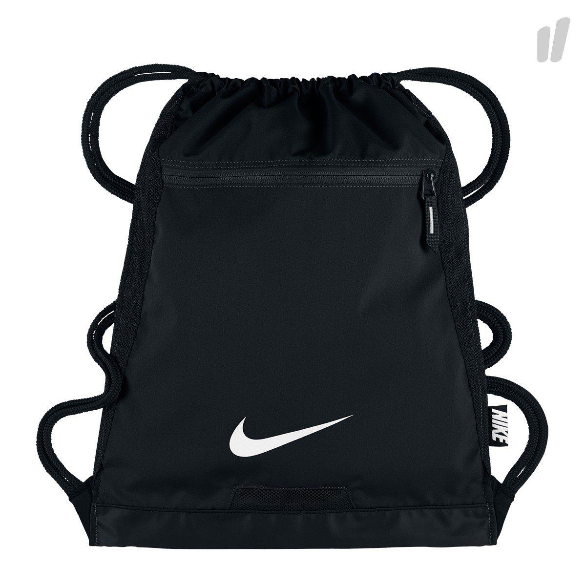 Men's Nike Alpha Gym Sack (BLACK/BLACK/WHITE)