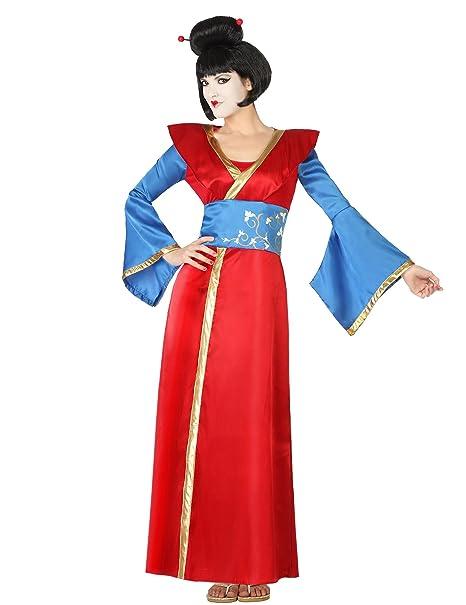 Atosa-28390 Disfraz Geisha, color rojo, XS-S (28390)