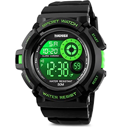led multi watch electronic waterproof sport girl function boy kid children amazon dp digital for watches com