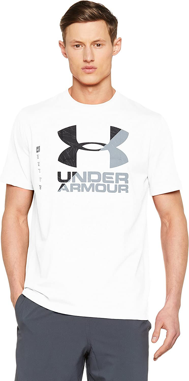 Under Armour UA Split Fragment Logo SS T Camisa Manga Corta, Hombre
