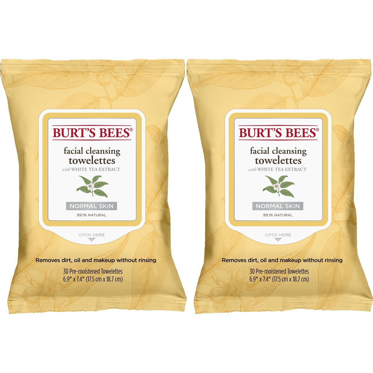 Burt's Bees Facial Cleansing Towelettes White Tea Extract Burt' s Bees Inc. AB-71112