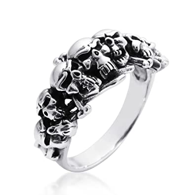 Buy Aeravida Ominous Pirate Skull And Crossbones 925 Sterling Silver Ring 7 At Amazon In