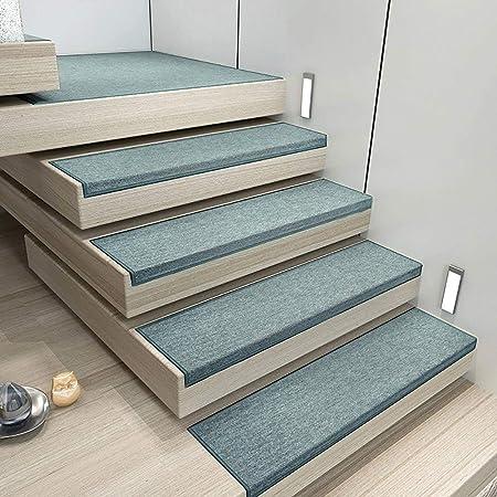 Antideslizantes para escaleras Alfombra De La Escalera Almohadillas Escalonadas Alfombra De Escalera Simple Alfombrillas Antideslizantes Autoadhesivas Gris Café Azul Caqui TZXSHO: Amazon.es: Hogar