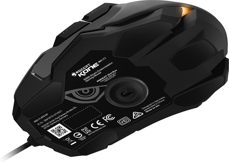 USB Designed in Germany RGB Aimo LED Illumination White 23 Programmable Keys Optical Owl-Eye Sensor ROCCAT KONE Aimo Gaming Mouse High Precision 100 to 12.000 DPI