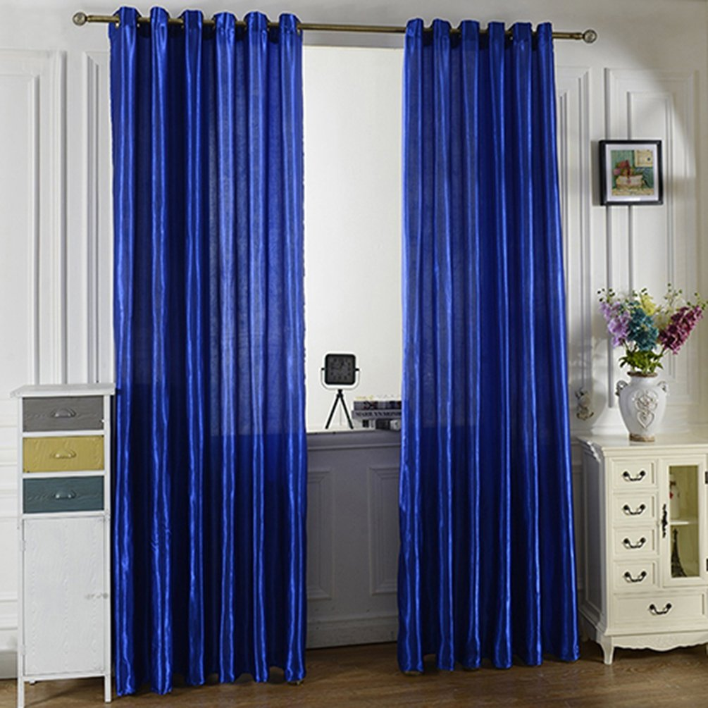 Everyday Home Solid Window Door Room Panel Shade Curtain Drape Blind Valance Decor (Blue 2)