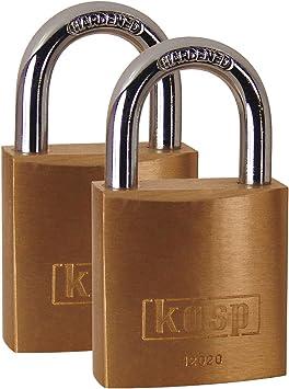 Kasp K12020D2 - Candado de latón, 20 mm, Pack Doble, Cierre simultáneo: Amazon.es: Bricolaje y herramientas