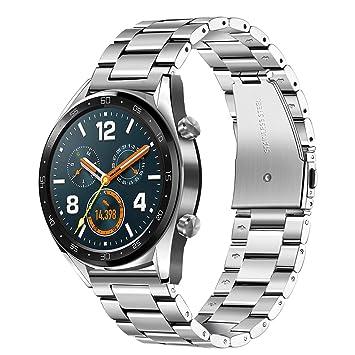 TRUMiRR 22mm Correa de Reloj de Acero Inoxidable Correa de liberación rápida para Samsung Gear S3