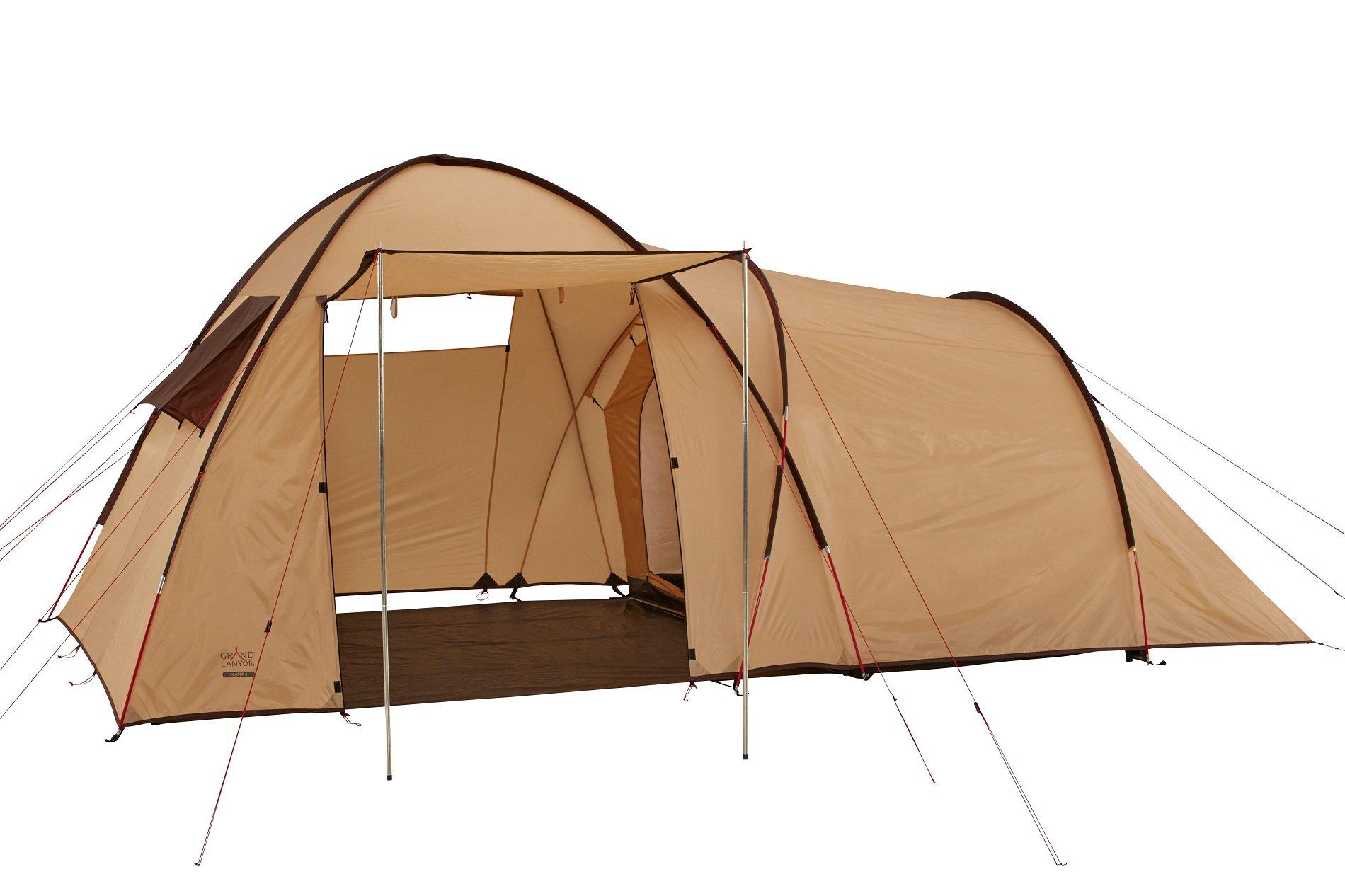 GRAND CANYON Fraser 3 – tienda para camping (tienda para 3 personas), beige