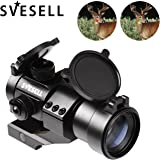 SVESELL Tactical Red Dot Sight   Green Dot Rifle Optic Reflex Sight Scope with 20mm Cantilever Mount for Rifles & Shotguns