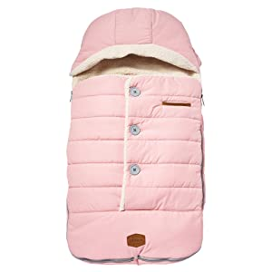 JJ Cole Urban Bundleme, Canopy Style Bunting Bag to Protect Baby from Cold and Winter Weather in Car Seats and Strollers, Blush, Toddler