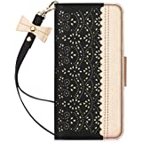 """WWW iPhone SE 2020 Wallet Case 4.7"""",iPhone 7 Wallet Case,iPhone 8 Wallet Case,[Romantic Carved Flower] Leather Case with [Ca"""