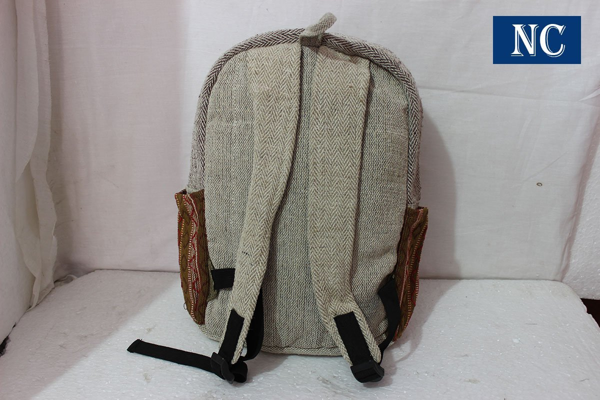 Nepal Hemp House Del Himalaya puro cáñamo Multi bolsillo mochila con funda para portátil - diseño de moda viaje Escuela Universidad bolsa de ...
