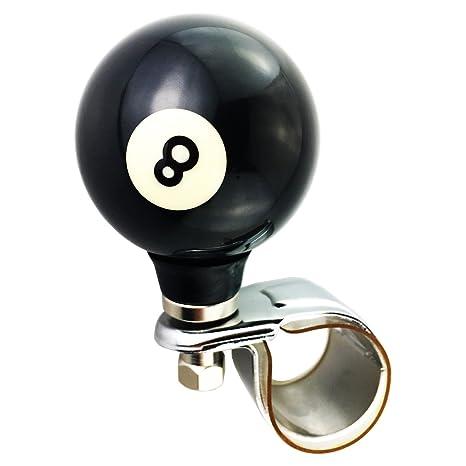 Black Steering Wheel Suicide Spinner Power Handle Knob Car /& Truck 8 BALL