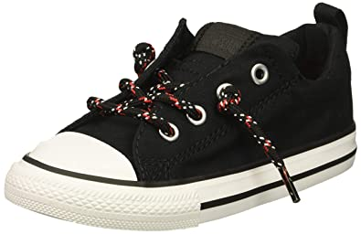 da3debe2460 Converse Boys  Chuck Taylor All Star Street Slip On Low Top Sneaker Black  Enamel