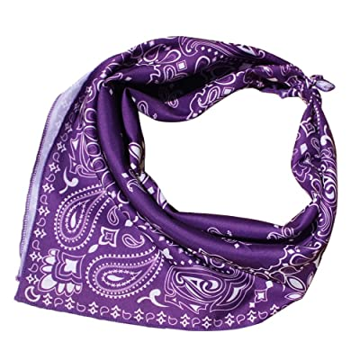 Rmeioel^ Paisley Bandanas Square Head Scarf Wraps Scarves Ladies Printed Kerchief Neck Scarf for Women: Garden & Outdoor