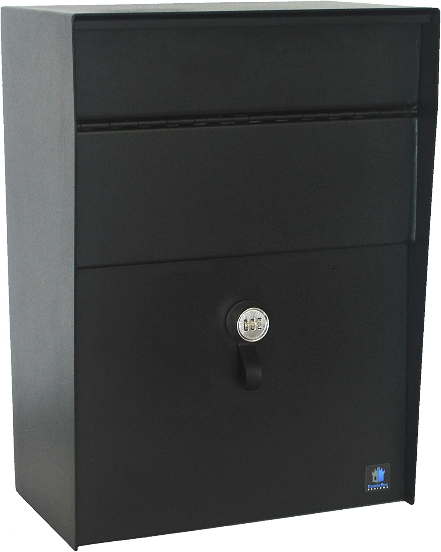 CastleBox Designs Large Heavy Duty Locking Wall Mounted Mailbox/Dropbox
