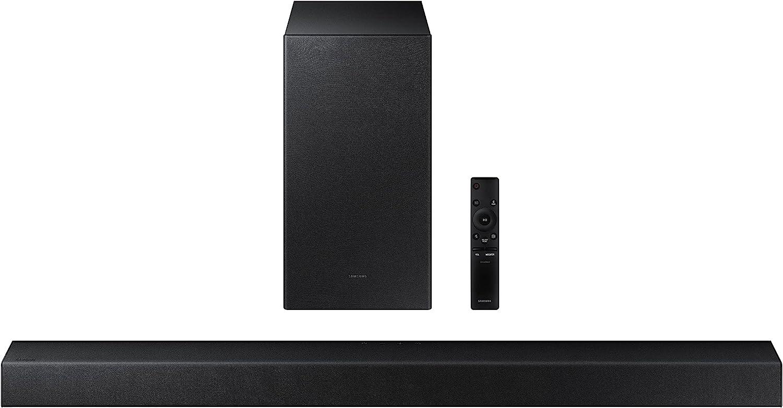 Samsung Barra de Sonido HW-A430 - Dolby Digital 2ch, DTS 2.0ch, Potencia de Sonido 270W, Subwoofer Incluido, Refuerzo de Bajos, Modo Juego, Sonido Inteligente Lite