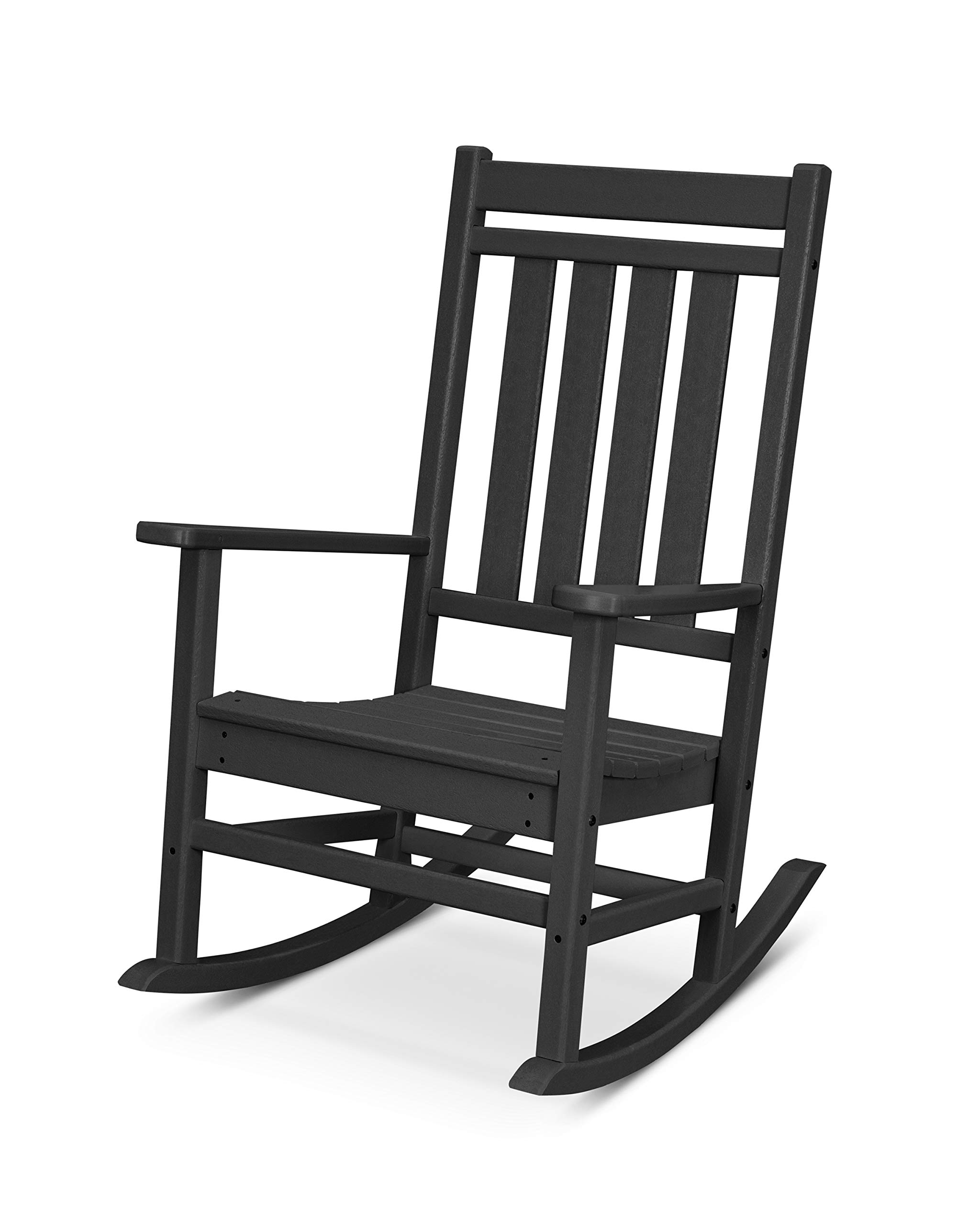 POLYWOOD Plantation Rocker, Black by POLYWOOD