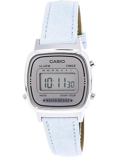 5d6a9a5b2 Casio Ladies Denim look leather band Blue watch Digital: Casio: Amazon.ca:  Watches