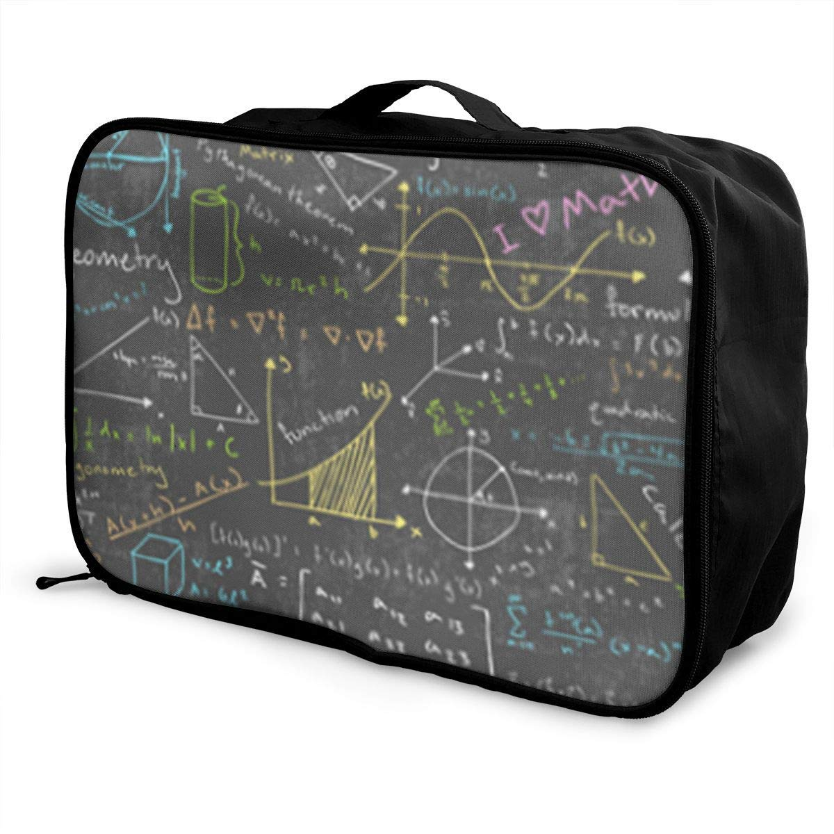 Portable Luggage Duffel Bag Math Lessons Travel Bags Carry-on In Trolley Handle