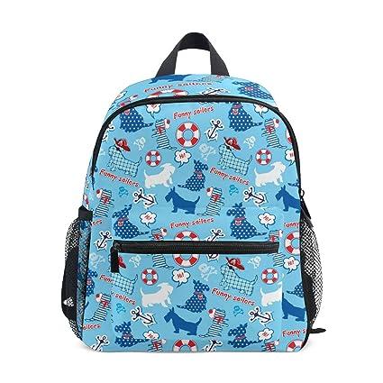 Amazon.com: Mochila de viaje para niños con diseño de perro ...