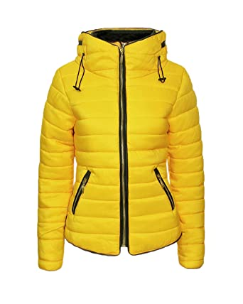 6a8f2e1ba New Ladies Quilted Padded Puffer Bubble Fur Collar Warm Thick Womens ...