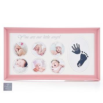 amazon com rectangle newborn baby handprint and footprint kit non
